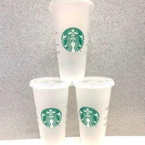 Starbucks reusable cold cups bundle of 3
